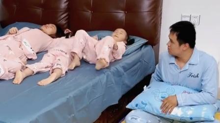 自从生了3胞胎后,睡前一幕爸爸太扎心了!