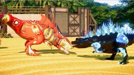 侏罗纪世界:钢铁鲨鱼龙大战哥斯拉,孰胜孰败呢