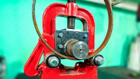 管虎钳改造手摇卷圆机,一物多用