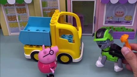 猪爸爸新买了一辆工程车