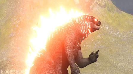 哥斯拉与泰坦巨龙对决,面对奇门绝技的巨龙,哥斯拉大招解决