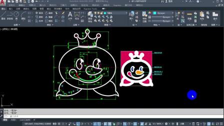 cad制图初学入门,教你用CAD画蜜雪冰城的雪王logo,赶紧收藏练习