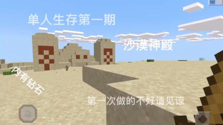 单人生存第一期:沙漠神殿里的钻石—我的世界