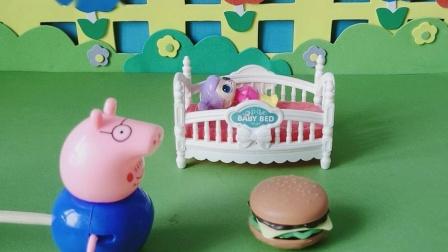 益智玩具:猪先生找到了一个汉堡包