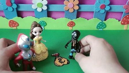 益智玩具:贝儿说是小鬼偷了小迪迦的金币