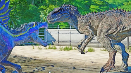 侏罗纪世界:看棘龙这嚣张的气焰,不知一会儿是否还看得见