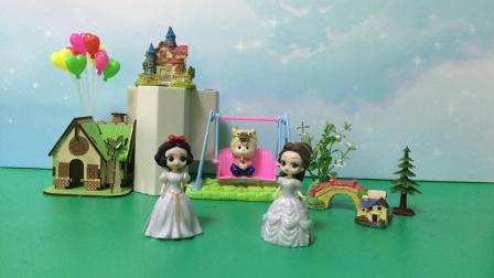 贝尔不满王子宠白雪,扔掉白雪的裙子!