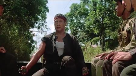 洪金宝用手雷威胁军匪,本想炸掉炮楼,却被他们挡下了