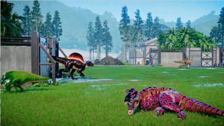 侏罗纪世界:花脸霸王龙这是被吵醒了吗