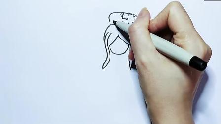 超简单系列儿童画:爸爸画的时希公主VS我画的