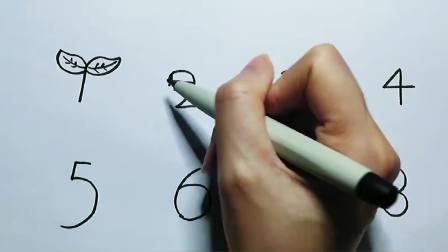 超简单系列儿童画:用数字画画,猜猜要变什么