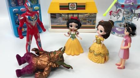 白雪公主和贝尔公主都发现了母后是怪兽变的