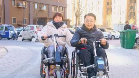 残疾女子结婚收到病友特殊祝福,朋友们前来送亲