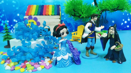 王子带白雪公主逛街,白马王子只会嘴上说说,巫婆来帮白雪