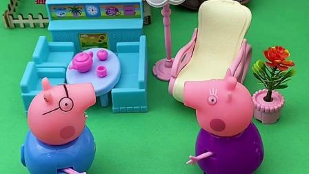 趣味童年:猪爸爸忘记接佩奇乔治啦