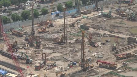 阿里巴巴华中总部施工现场视频