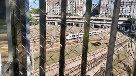 深圳地铁2号线252车蛇口西车辆段晚高峰出库
