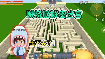 爆笑迷你:贼烧脑解密迷宫!花子以为很简单,结果被困住出不去!