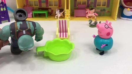 巨人僵尸误喝了猪爸爸的洗脚水