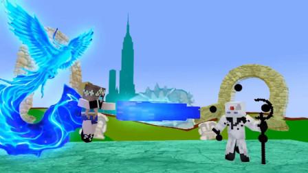 创造游戏角色人打拳皇97《我的世界怪物学院》搞笑动画