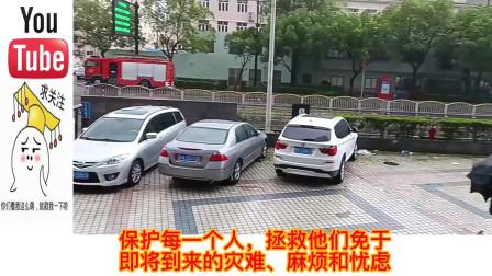 老外看中国:巴铁拍摄烟花台风影响上海,老外:这是台风为什么要用雨伞