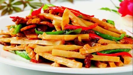中华小当家创意菜:竹笋炒肉丝