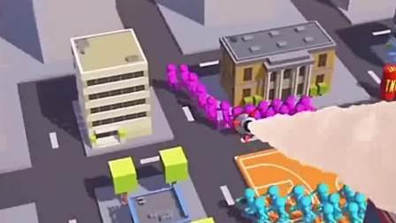 趣味小游戏:看看这个篮球场,开始争夺所有权了