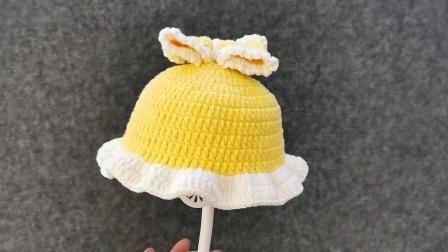 【芸妈手作A205】帽子部分/公主结套装雪地靴宝宝婴儿童帽子鞋子套装新手钩针编织视频教程