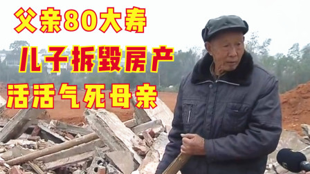 父亲80大寿这天,房屋被儿子夷为平地,母亲被活活气死,纪录片