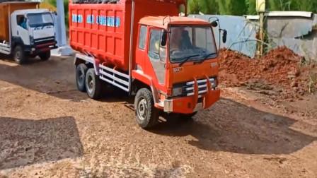 儿童户外玩具车 工程车卡车运输小石块