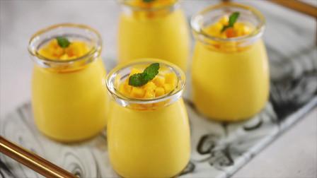 超简单的芒果布丁香浓嫩滑好美味
