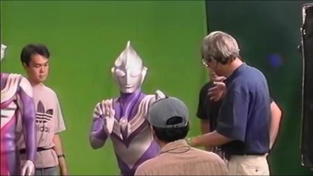 1996年《迪迦奥特曼》TV版拍摄现场,哥尔赞云雾中拍飞机