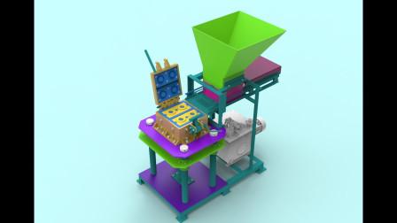 双联锁砖机的运行原理动画