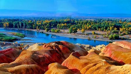 新疆之旅 北疆之行 游览神奇五彩滩