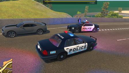 警察模拟器:开警车在高速公路上追捕嫌疑犯