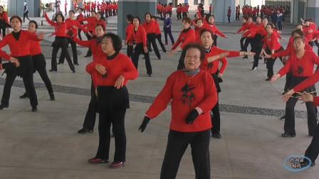 """青岛红色娘子军舞蹈团跳""""那拉提的养蜂女""""广场舞,感人!"""