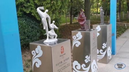 奥运体育健儿雕塑千姿百态!
