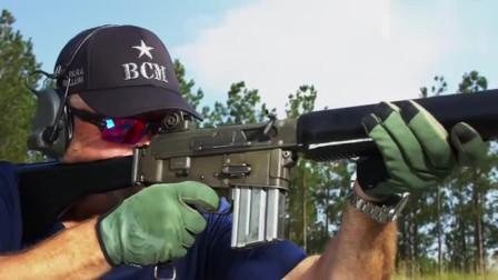 阿玛莱特AR-18自动步枪,靶场实弹射击测试,慢动作回放