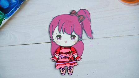 菲梦少女纸娃娃换装秀,给乔可星制作鲜花舞台装扮粉红裙