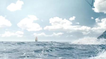 科幻电影召唤鲸鱼来给船加速,躲避战舰追击