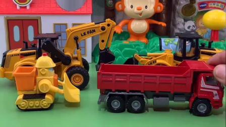 少儿玩具:工程车开始工作了