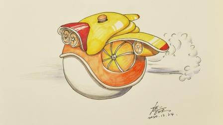 胡思乱画:会飞的橙子