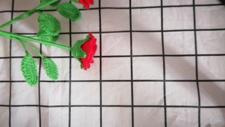一线连玫瑰花钩织教程(3)