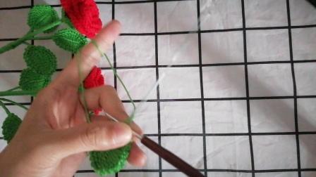 一线连玫瑰花钩织教程(4)