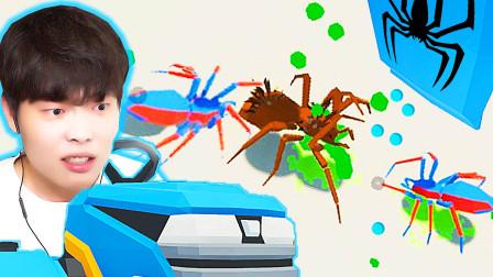 打蜘蛛模拟器 全新关卡 我有蜘蛛侠小弟啦!见谁咬谁!