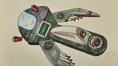 少儿科幻画:扳手如何改造成飞行物
