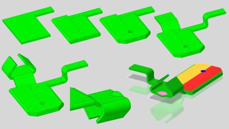 Creo7.0基础钣金建模实例视频教程:弹片零件三维绘图