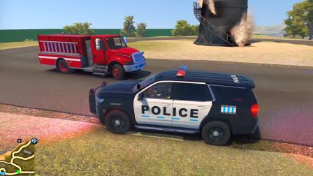 警察模拟器:山上灯塔被人恶意纵火 上山抓到女嫌犯