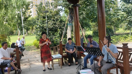 2021年8月18日,西塘公园《越剧》月朦胧,雾朦胧,陈姐演唱,甬闻录制。