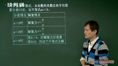 人教版初一数学,不等式与不等式组,初一至初三全册视频教程